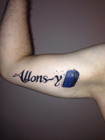 Dr. Who Tattoo Allons-y