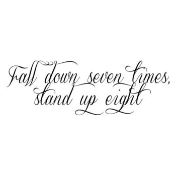 Fall down seven times, stand up eight (185 PHP) ❤ liked on Polyvore featuring home, kitchen & dining,