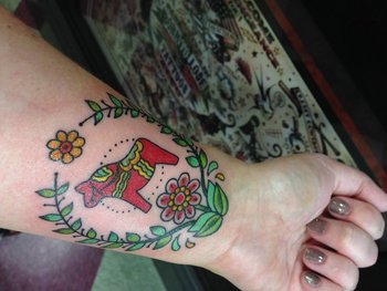 My Dala Horse tattoo by the one and only Mr. Clayton James.