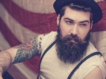 Lane Toran Caudell very full thick dark beard and huge mustache beards mustaches bearded man men mens