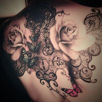 30 Refined Lace Tattoos | Tattoodo.com