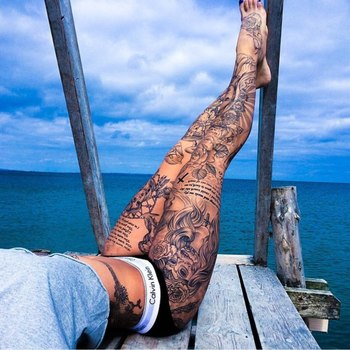 I've always like woman with so many tattoos. But I don't know if I could do it myself