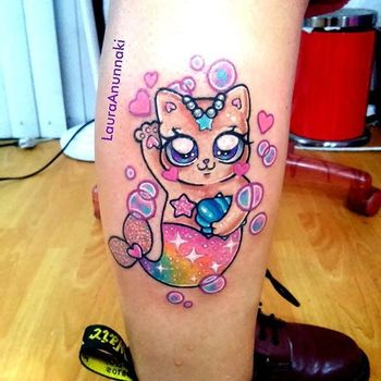 The Sparkly Kawaii Tattoos Of Laura Anunnaki | Tattoodo.com