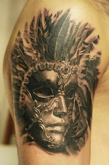 Realism Mask Tattoo by John Maxx