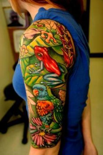 The Most Lush & Vivid Rainforest Tattoos EVER!! Wait till you see #12...