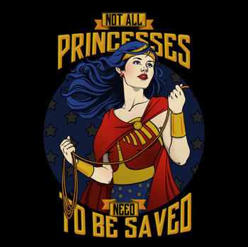 Wonder Woman 'Not All Princesses Need to be Saved' T-Shirt