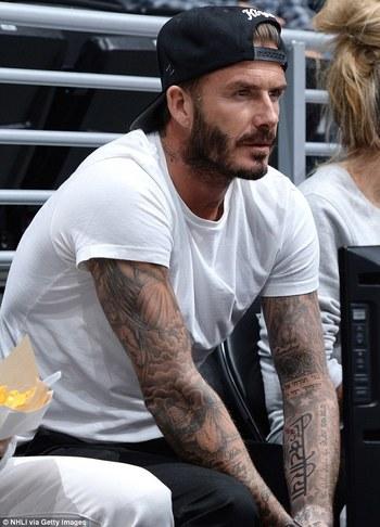 David Beckham's latest tattoo designed by daughter Harper