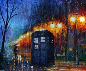 Doctor Who Art (take your painting... insert tardis... walaaaa!)