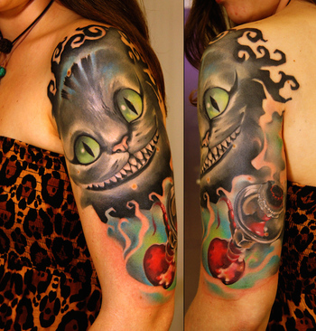 100+ Best Alice In Wonderland Tattoos - TattooBlend - Your Source for Tattoo Designs and Inspiration
