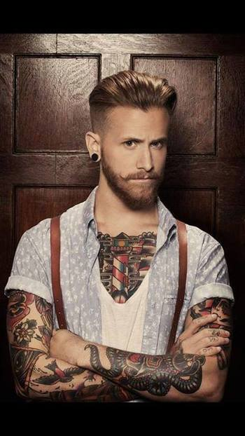 Don't know where to pin it... The guy is F**king hot. The tattoos are hot. Love the style and Like th