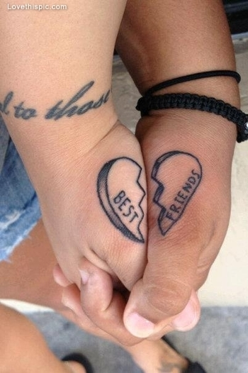 101 Best Friend Tattoos | InkDoneRight.com There are several different kinds of Best Friend Tattoos.