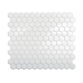 I love the look of these removable removable tiles. My kitchen has this white tile floor that shows e