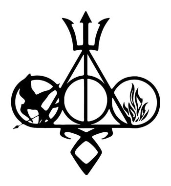 Fandom Vinyl Car Decal Harry Potter, Divergent, Mortal Instruments, Percy Jackson and Hunger Games on