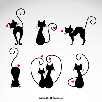 In Love Cats Vector http://blog.templatemonster.com/2014/06/11/free-cat-icons-for-your-meowelous-projects/?utm_source=Pinterest&utm_medium=Blog&utm_campaign=FrCatic
