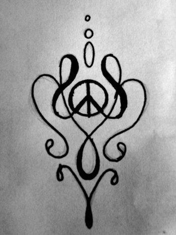 peace tattoo by Lary-666 on deviantART