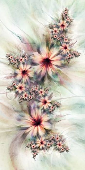UltraFractal Flowers - love flowers. I love fractals. I love this.