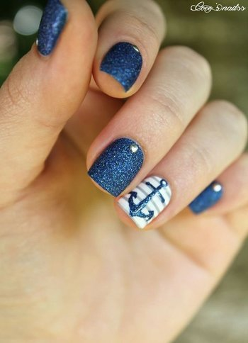 60 Cute Anchor Nail Designs | Showcase of Art & Design