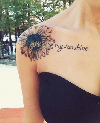 45 Inspirational Sunflower Tattoos | Showcase of Art & Design
