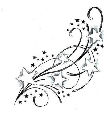 Images of Shooting Star Tattoos design | Like Tattoo