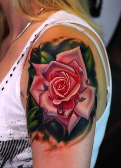 Rose tattoos are bloomin body art original