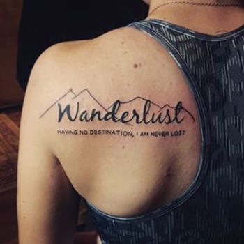 wanderlust and mountain tattoo - Google Search