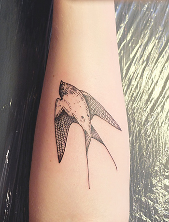 Swallow Arm Tattoo By Diana Katsko | Best tattoo design ideas