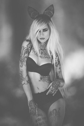 Sarah Fabel Famous Tattoo Model!!