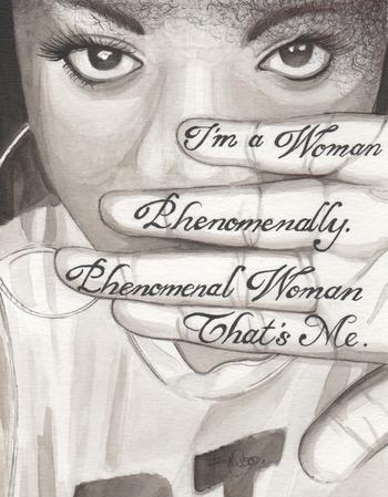 Black Women Art! – Phenomanal Woman by Maya Angelou   Tumblr:...