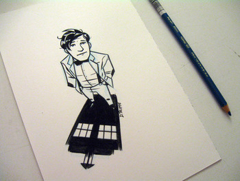 deantrippe: My first try at the new Doctor. A gift for some expectant Doctor Who fans.