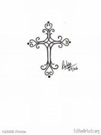filigree cross tattoo designs - Google Search