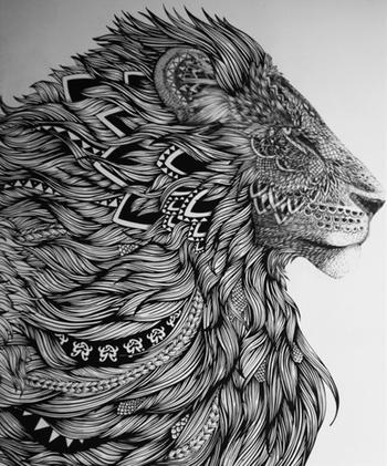 Majestic lion | Postris