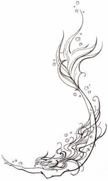 I like the idea and shape of this filligree mermaid tattoo