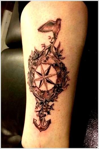 100 Best Compass Tattoo Designs[2016 Collection] - Part 2