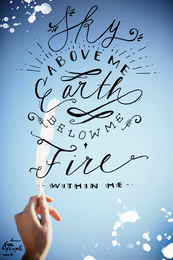 Monday Quote: Fire Within Me - Free People Blog