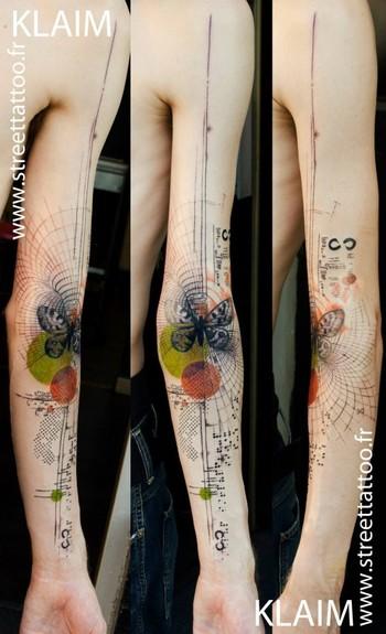O incrível trabalho do tatuador francês Klaim do Street Tattoo
