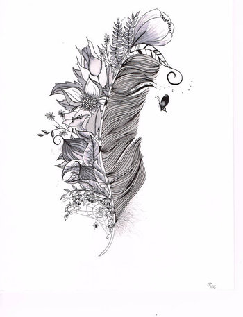 Custom Tattoo Illustration for B.I.