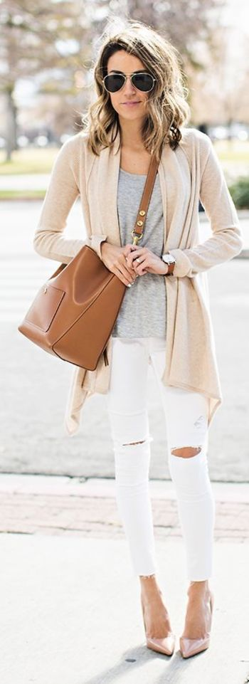 Neutral Mix Outfit Idea