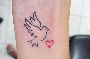 ALL CUTE TATTOOS: Bird Love