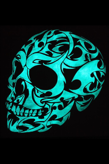 Glow In The Dark 3d Gothic Skull by Twilight Vision