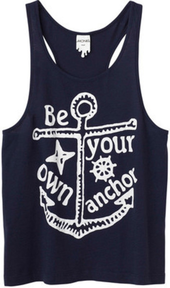 Be your own anchor. Cute. Yet another Kristen Hawkins pin :)