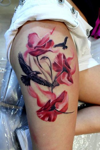 60 Beautiful Poppy Tattoos | Art and Design