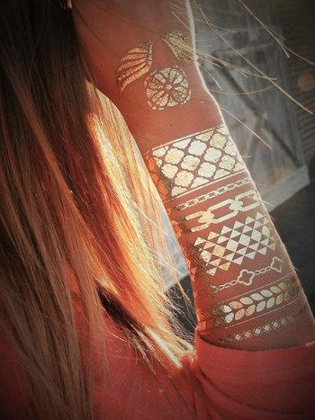 Metalic Tattoos, Metallic Temporary Tattoos, Temporary Metallic Tattoos, Temporary Metallic Tattoos, Metalic Tattoo