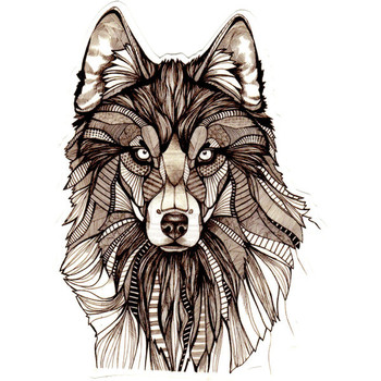 Large Wolf Temporary Tattoo ($7) ❤ liked on Polyvore featuring accessories, body art, animals et fill