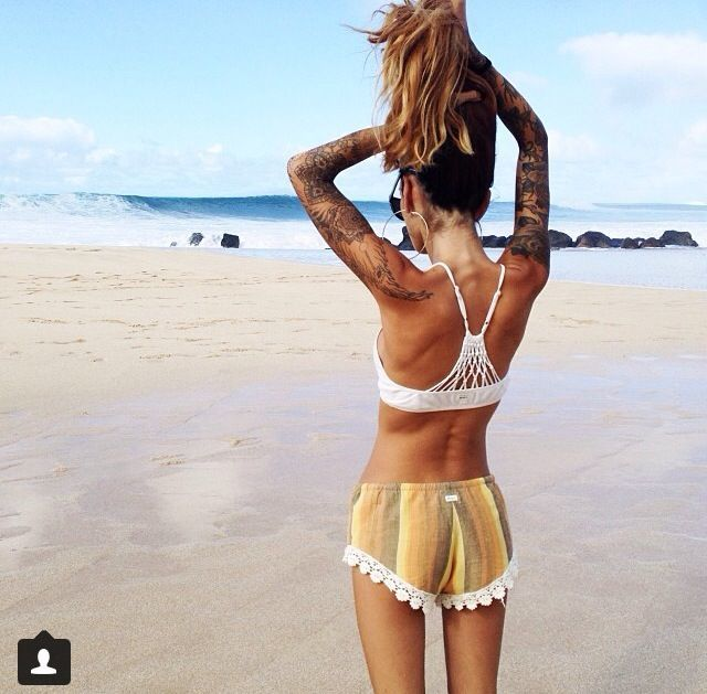Idk what s up with her tattoos but love the shorts original
