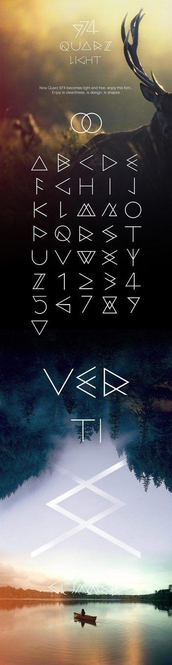 QUARZ 974 Light Free Font - Free Fonts - Fribly