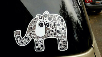Elephant Car Sticker