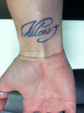 geek with curves: Allons-y! (Or my new tattoo)