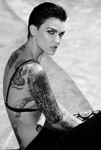 Ruby Rose wears menswear-inspired outfits for edgy arts magazine shoot