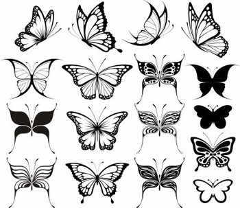Butterfly is a girly girly tattoo and can be made in many shapes. Click on the image for the tutorial