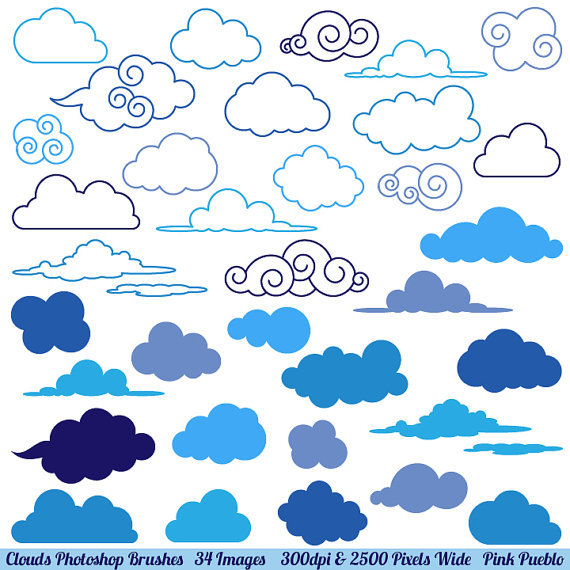Clouds photoshop brushes weather photoshop brushes by pinkpueblo 8 00 original
